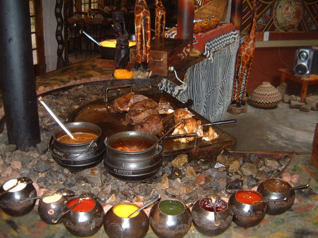 Restuarant african cave lodge for African cuisine restaurant